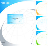 Letterhead design template. Letterhead and business card design template in four colors stock illustration