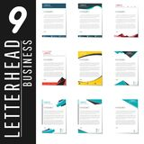 Letterhead design template and mockup minimalist style vector bu. Ndle. set design for business or letter layout, brochure, template, newsletter, document or stock illustration