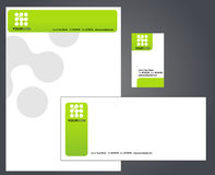 Letterhead, envelope and business card Royalty Free Stock Image
