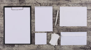 Letterhead and Identity design mockup Royalty Free Stock Images