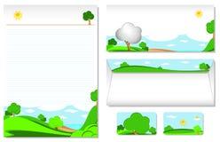 letterhead krajobrazowy temat Obrazy Royalty Free