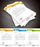 Letterhead. This is simple and creative letterhead for business and personal purpose usages. Well organized and layered. Easy to edit. Vector illustration stock illustration