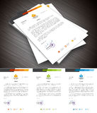 Letterhead. This is simple and creative letterhead for business and personal purpose usages. Well organized and layered. Easy to edit. Vector illustration Stock Photos