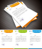 Letterhead. This is simple and creative letterhead for business and personal purpose usages. Well organized and layered. Easy to edit. Vector illustration royalty free illustration