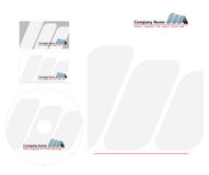 Letterhead template. With card and compact disk design vector illustration