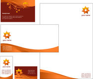 Letterhead Template design - vector. File Stock Images