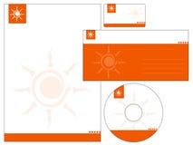 Letterhead template design - vector. Company letterhead , business card , CD , and envelope design - Vector file stock illustration