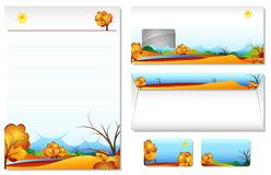 Letterhead With The Theme Autumn Stock Images