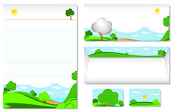 Letterhead With The Theme Of Landscape Royalty Free Stock Images
