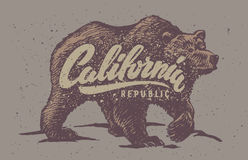 Lettering and bear Stock Photos
