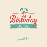 Lettering Birthday card Stock Image
