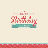 Lettering Birthday card Royalty Free Stock Image