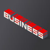 Lettering business. Vector illustration. In 3D isometric style Royalty Free Stock Photography