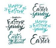 lettering Caligrafia da escova Fotos de Stock