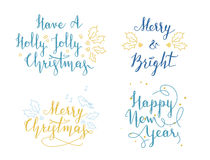Lettering and calligraphy. Christmas and New Year greetings Royalty Free Stock Photo