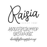 Lettering and calligraphy. English alphabet Royalty Free Stock Image