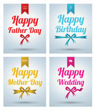 Lettering Card set. Stock Photography