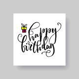Lettering cards Royalty Free Stock Photo