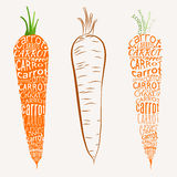 Lettering on carrot Royalty Free Stock Images