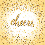 Lettering cheers Stock Photo