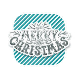 Lettering Christmas design, hand written postcard Stock Photography