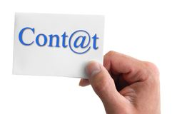 Lettering Contact Royalty Free Stock Photo