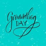 lettering Dia de Groundhog Fotografia de Stock