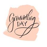 lettering Dia de Groundhog Imagens de Stock Royalty Free