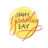 lettering Dia de Groundhog Imagens de Stock