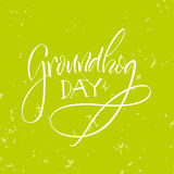 lettering Dia de Groundhog Fotos de Stock Royalty Free