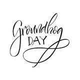 lettering Dia de Groundhog Fotografia de Stock Royalty Free