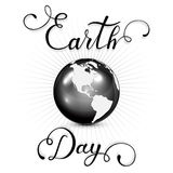 Lettering Earth Day Royalty Free Stock Photo