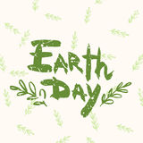 Lettering Earth Day Royalty Free Stock Photography
