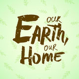 Lettering Earth Day Royalty Free Stock Images