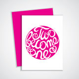 Lettering element in pink color for wedding design Royalty Free Stock Image