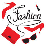 Lettering fashion. Flat illustration Royalty Free Stock Photos