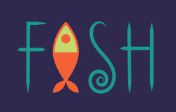 Lettering fish Stock Image