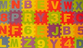 Lettering floor play area background royalty free stock photo