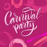 lettering A frase: ` do partido do carnaval do ` Imagem de Stock Royalty Free