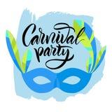 lettering A frase: ` do partido do carnaval do ` Fotos de Stock Royalty Free