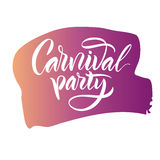 lettering A frase: ` do partido do carnaval do ` Fotografia de Stock Royalty Free