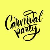 lettering A frase: ` do partido do carnaval do ` Fotografia de Stock