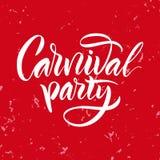 lettering A frase: ` do partido do carnaval do ` Foto de Stock Royalty Free
