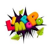 Lettering funny comic  prank Limpopo Stock Photo