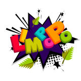 Lettering funny prank comic font Limpopo Royalty Free Stock Images