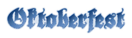 Lettering German/Munich Oktoberfest. Checkered Lettering German Munich Oktoberfest Royalty Free Stock Image