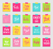 Lettering for greeting card and sticker Stock Photography