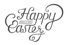 Lettering for Greeting Cards Happy Easter Royalty Free Stock Images