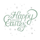Lettering for Greeting Cards Happy Easter Stock Image