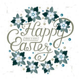Lettering for Greeting Cards Happy Easter Stock Images
